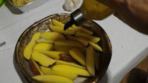 olio su patate
